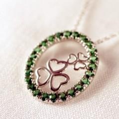 This Erin Go Bragh necklace is a true Irish charmer.