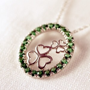 This Erin Go Bragh necklace is a true Irish charmer.