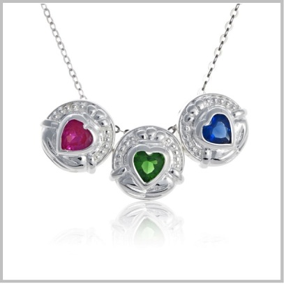 062109 claddagh birthstone charm group sh