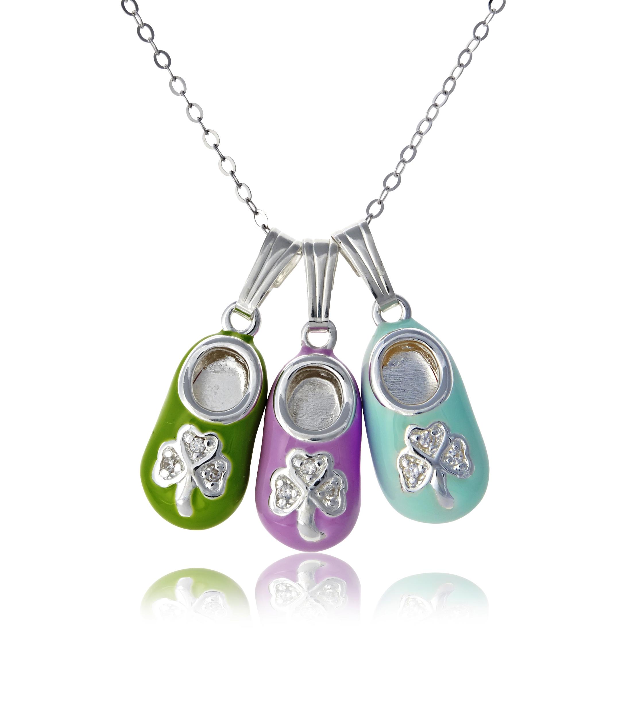 Irish Baby Bootie Necklace And Irish Motherhood Jewelry