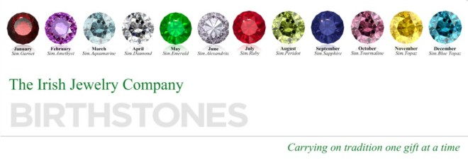 irish jewelry birthstones