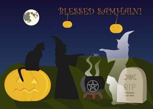 Samhain greeting card
