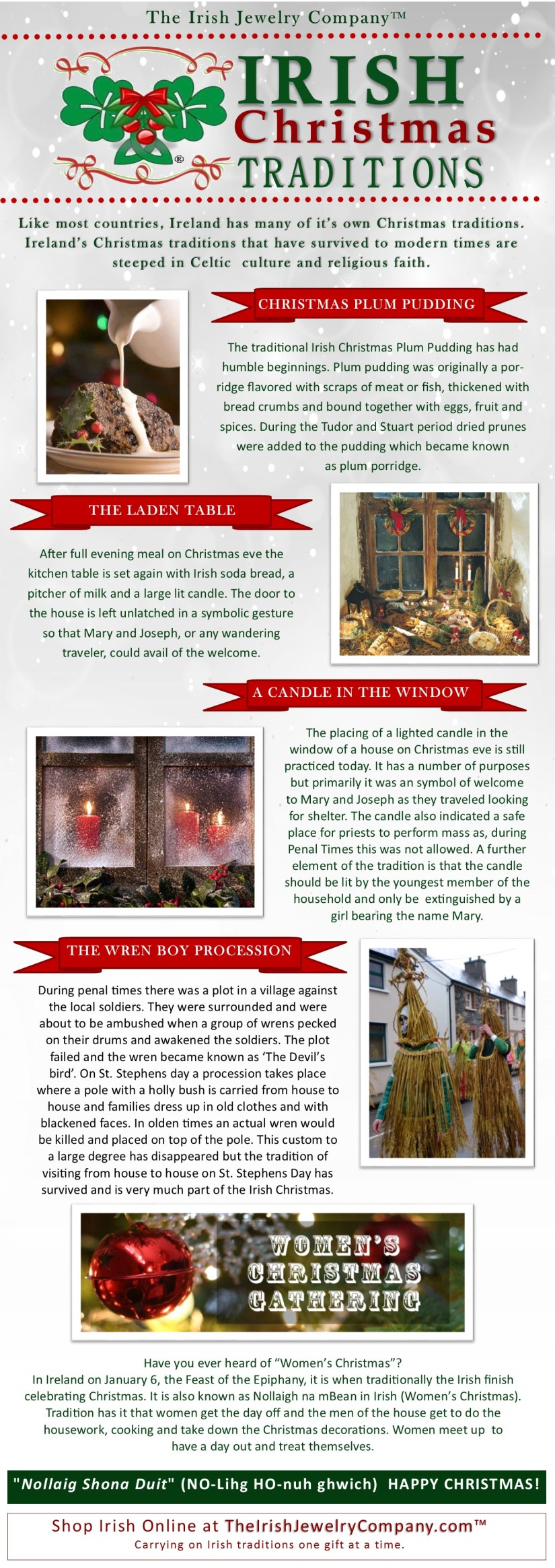 irish christmas traditions infographic
